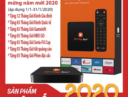 FPT PLAY BOX+ 2019 (MODEL: S400), OS ANDROID TV9 MỚI NHẤT