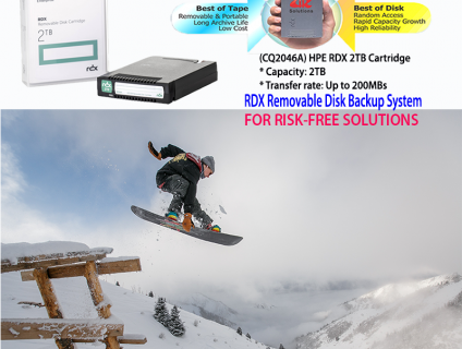 HPE RDX 2TB Removable Disk Cartridge (Q2046A)