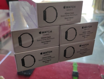Apple watch series 3 GPS 42mm space gray Sport band black mới 100%